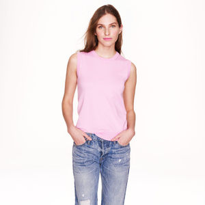 J. CREW cotton jackie shell light pink